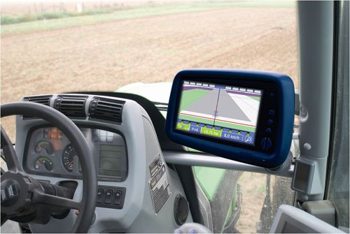 gps console in tractor